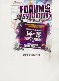 Affiche Forum des associations Saint-Etienne