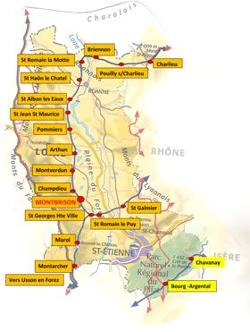 carte chemins Loire